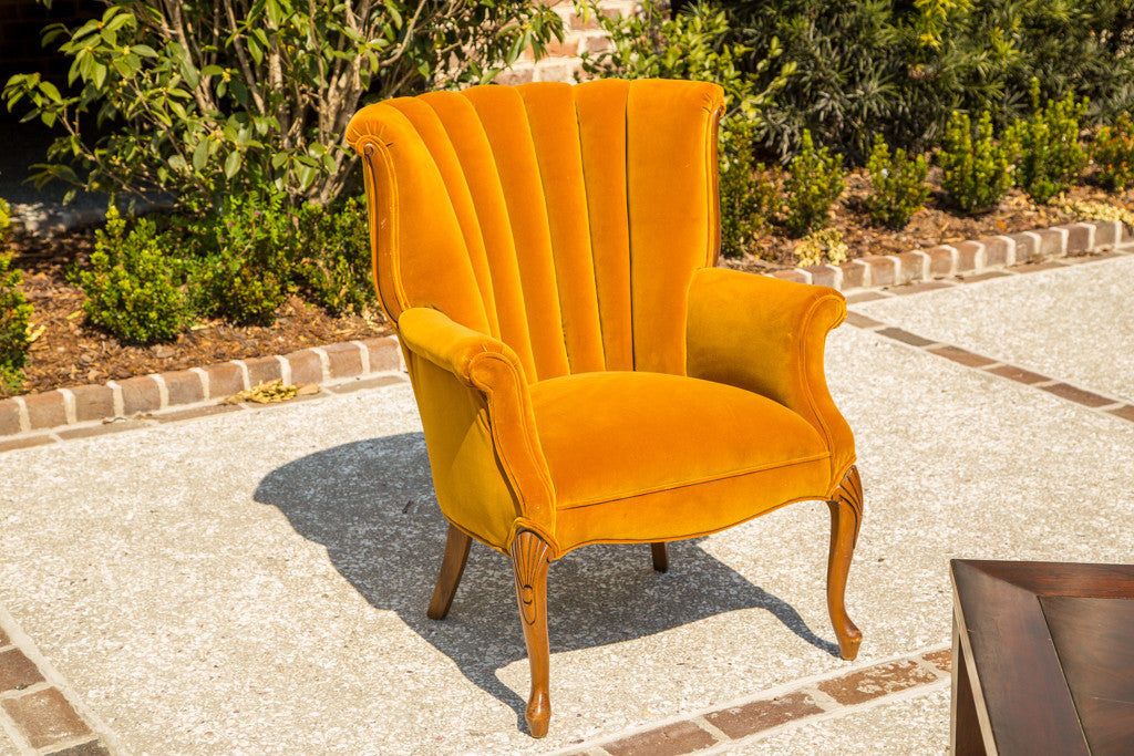 Lounge Furniture   Vintage [Mustard Yellow Side Chair]