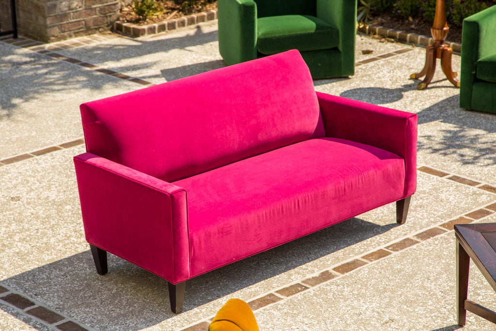 lounge furniture sofa settee sofa in fuschia