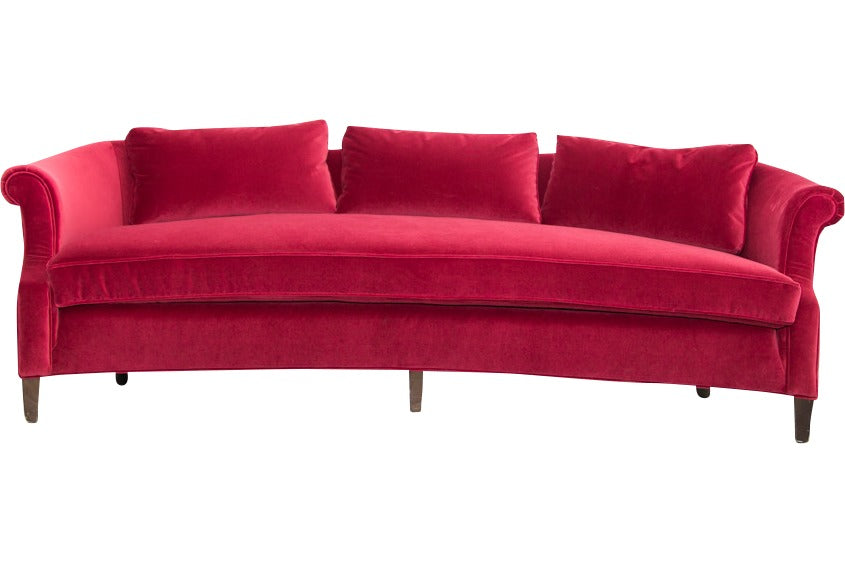 Merveilleux Lounge Furniture   Vintage [Red Velvet Sofa]