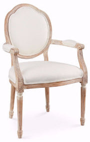 Lounge Furniture - Sofa - Neutral  [Louie - Side Chair Ivory Curved Back]
