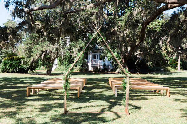 Bench Rustic Natural Ruths House Event Rentals