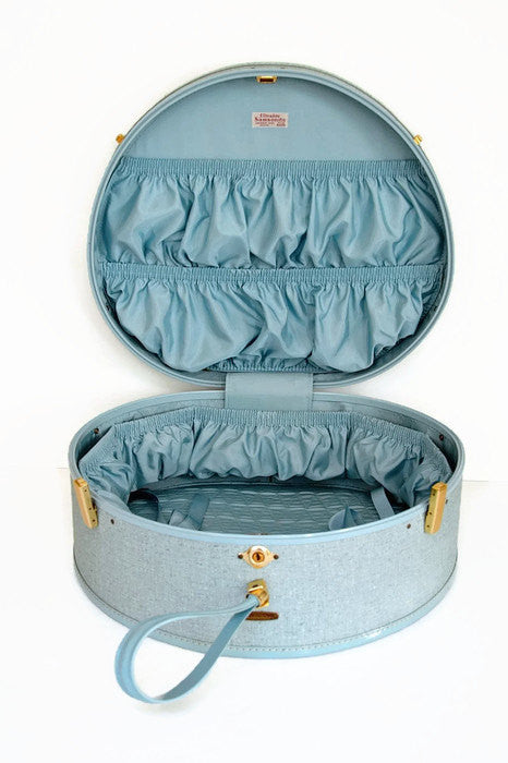 Vintage- Suitcase  [Hat Box in Baby Blue]
