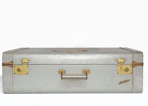 Vintage - Suitcase [Grey with Travel Stickers]