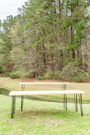Farm Table  - RUSTIC [Natural Cypress with Black Pin Legs]
