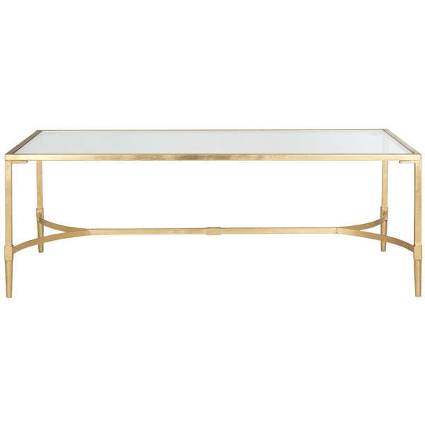 Lounge Furniture Coffee Table Glass Gold Ruths House Event Rentals