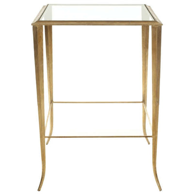 Lounge Furniture - Coffee Table Side [ Glass Gold]