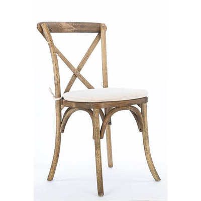 Chair [X-Back Driftwood Farmhouse] (with cushion)
