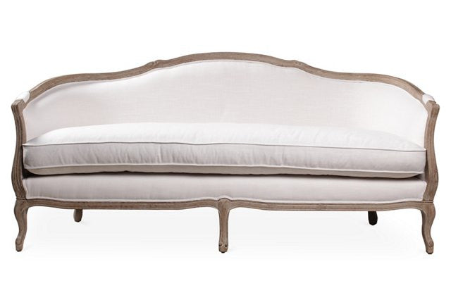 Lounge Furniture - Sofa - Neutral [Belle Ivory Curved Back]