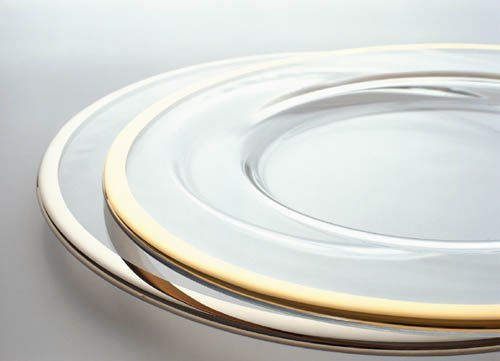 Tableware - Charger - Glass with Gold Band 12.5""