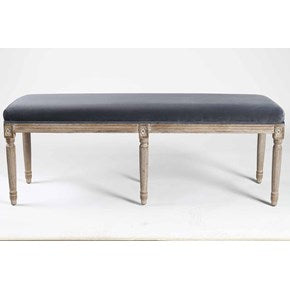 Lounge Furniture - Gray Velvet - [Antoniette Bench]