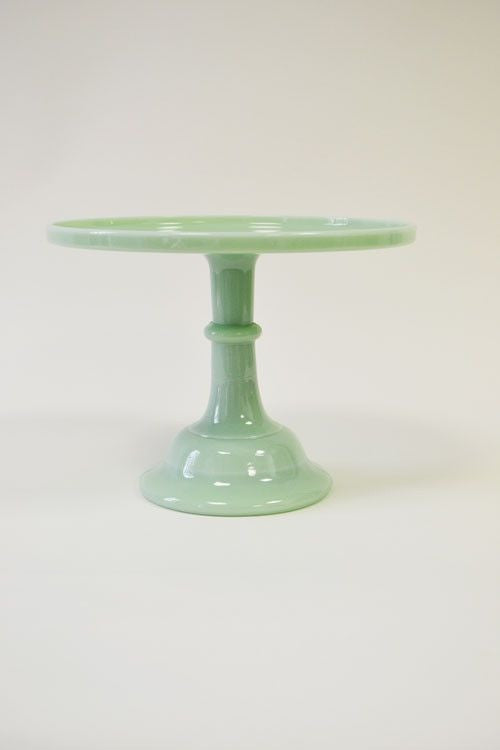 Milk Glass Cake Plate Jadeite & Milk Glass Cake Plate Jadeite u2013 Ruths House Event Rentals
