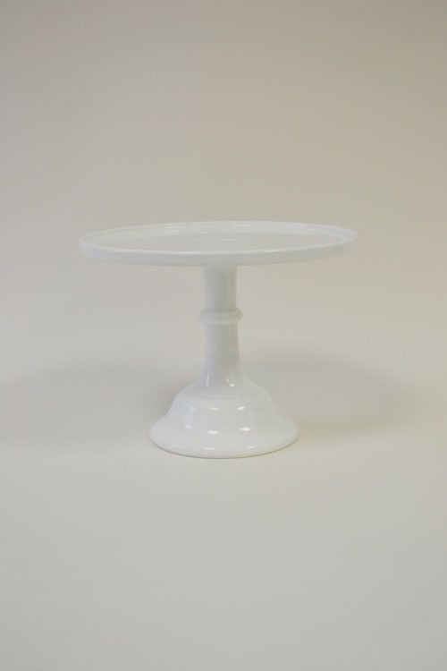 Milk Glass Cake Plate {White}