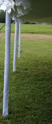 Tent Fabric Fitted Pole Covers