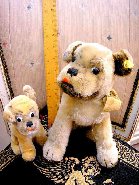 Vintage Steiff Mopsy Dogs Bugsy and Malone