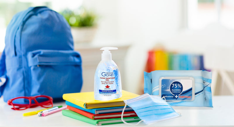 Back To Class Pandemic Essentials - Masks, Hand Sanitizer, School Supplies