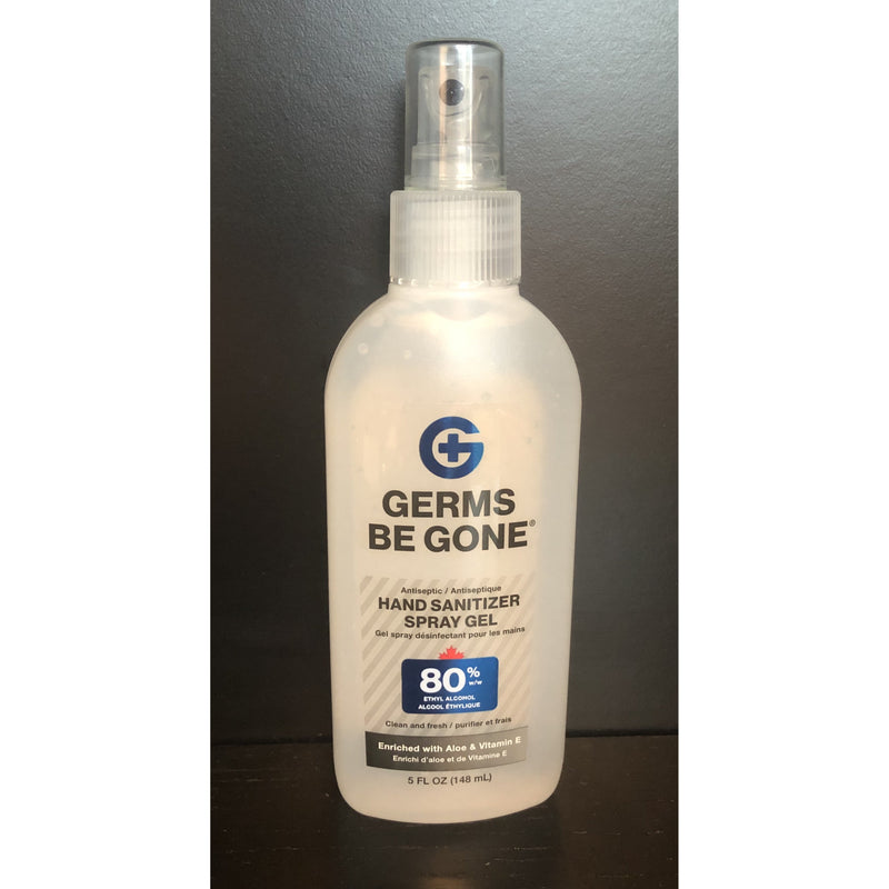 Germs Be Gone Hand Sanitizer Spray Gel 80% Alcohol 5oz