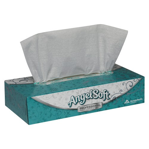 Angel Soft Premium Facial Tissue 2ply 100 Sheet/Roll 30 Rolls/Case