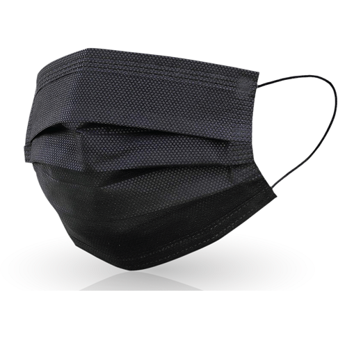 Black 3 Ply Disposable Masks