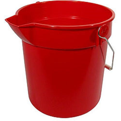 Bucket with Pour Spout Red or Grey 10QT