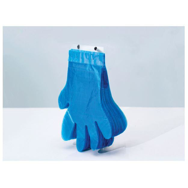 Reddi-2-Go Poly Gloves On Wicket Blue One Size 100 per Package