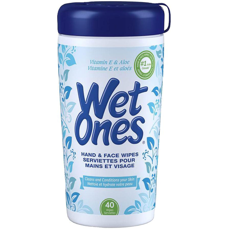 Wet Ones Hand and Face Wipes with Vitamin E and Aloe