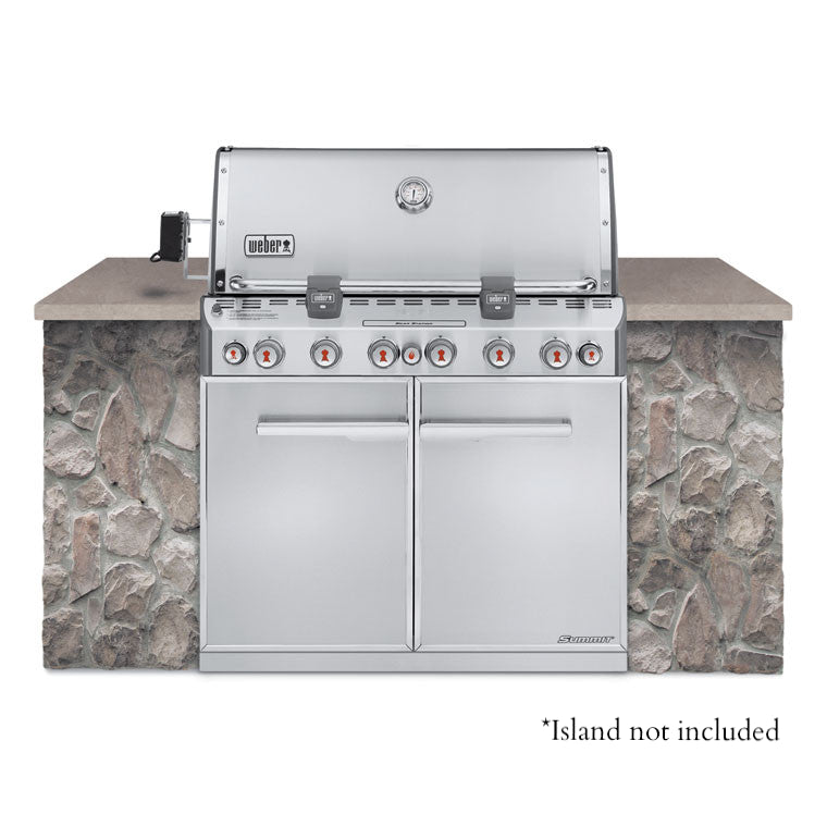 Weber S 660 >> Weber Summit S-660 Stainless LP Gas Grill Built-In ...
