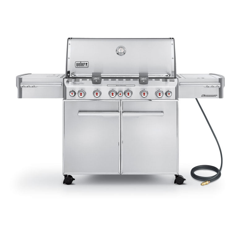weber summit s670 stainless steel natural gas grill