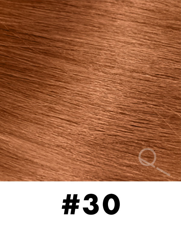 Aqua Hair Extensions - 30 - Brownish Red