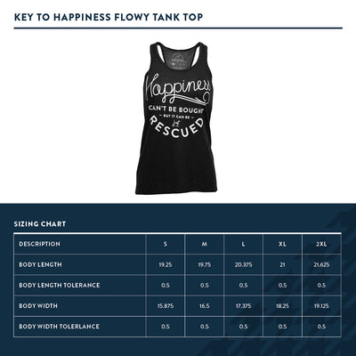 Key to Happiness Flowy Black Tank top