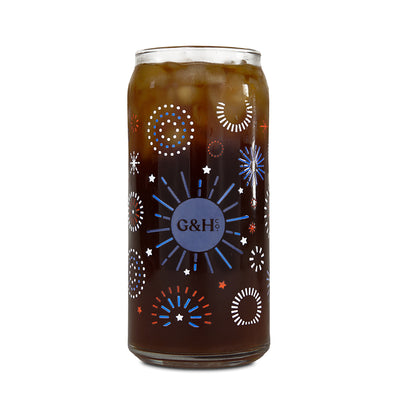 Patriotic Pup Cold Brew Glass
