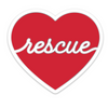 Heart for Rescue Sticker