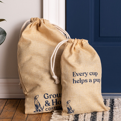 Brushed Burlap Gift Bag