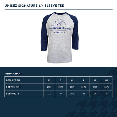 Signature 3/4 Sleeve Logo Tee