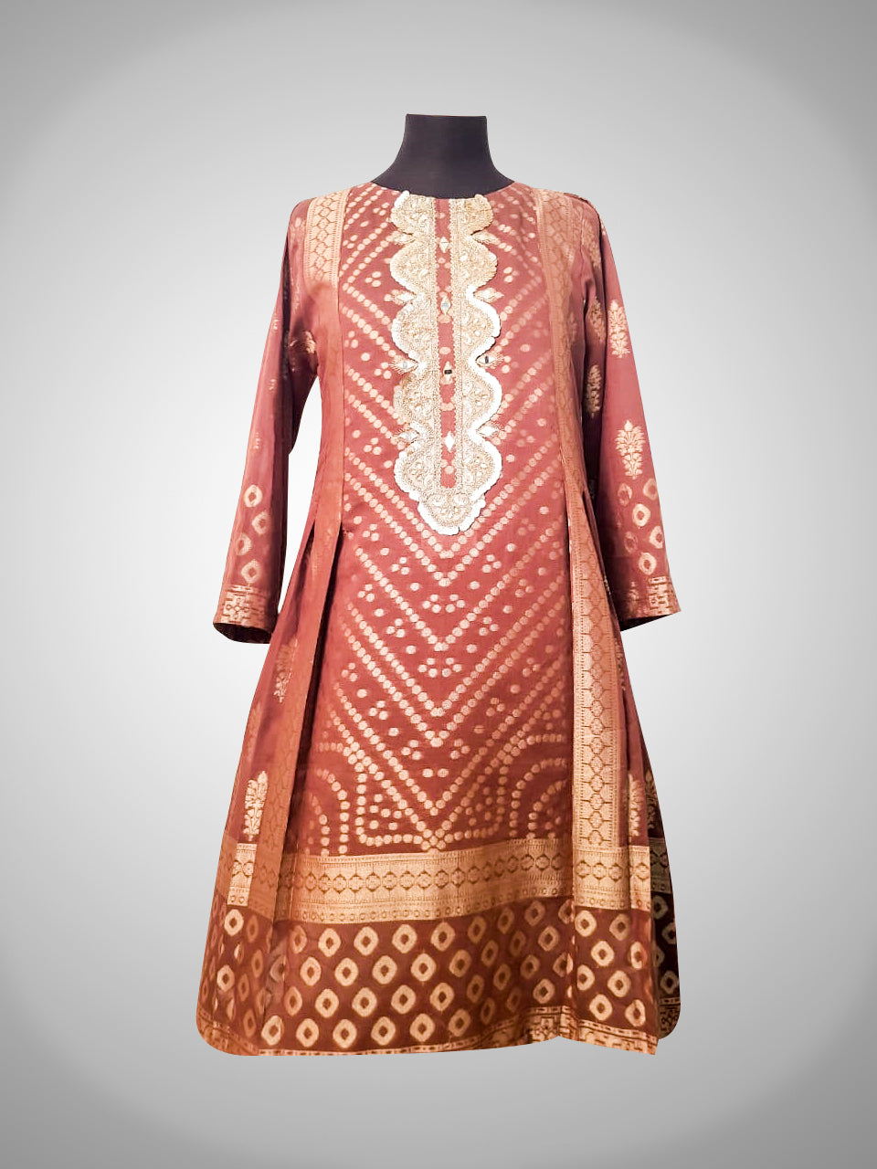 Jacquard Mirror Work Kurti Collection