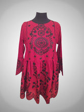 Load image into Gallery viewer, Red Cut Work Embroidery Frock
