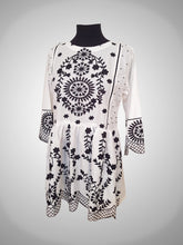 Load image into Gallery viewer, White Cut Work Embroidery Frock
