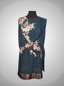 floral embroidery kurti