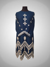 Load image into Gallery viewer, Mirror work self cotton with cutwork in daman - Masoori Kurti collection