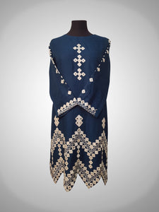Mirror work self cotton with cutwork in daman - Masoori Kurti collection