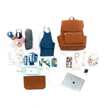 Load image into Gallery viewer, Wren Bag, Diaper Bag, Backpack, Diaper Bag Backpack, Leather Bag, Maternity, New Mom, Newborn, Baby Bag, Mom Style, Wren, Fawn Design, Freshly Picked, Mäden Bags, Little Unicorn, Swaddles, Moccs, Old Navy Maternity, Target, Target Maternity