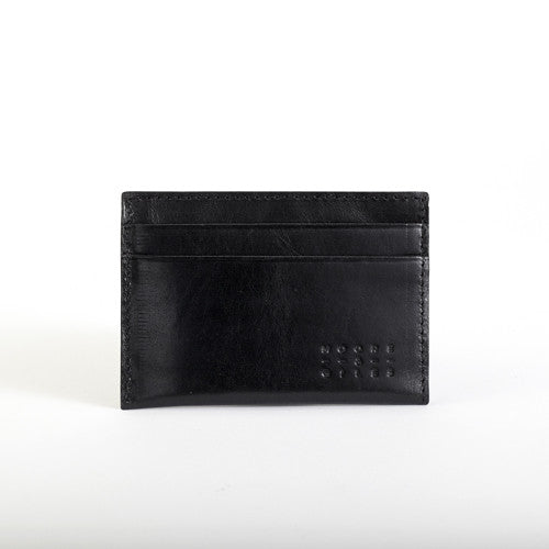 Moore and Giles black leather credit card wallet