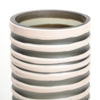 Strata vase in beige and grey