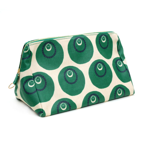 Large travel toiletries bag in print