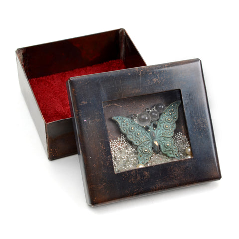 Reliquary box with butterfly