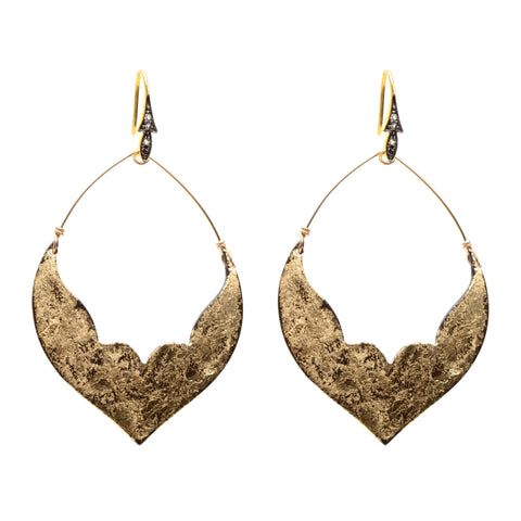 Large fashion earrings (distressed finish)