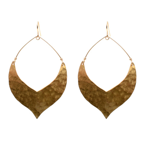 Large fashion earrings (hammered finish)