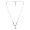 "Pearl and pyrite necklace with labradorite drop, 16-17"" long"