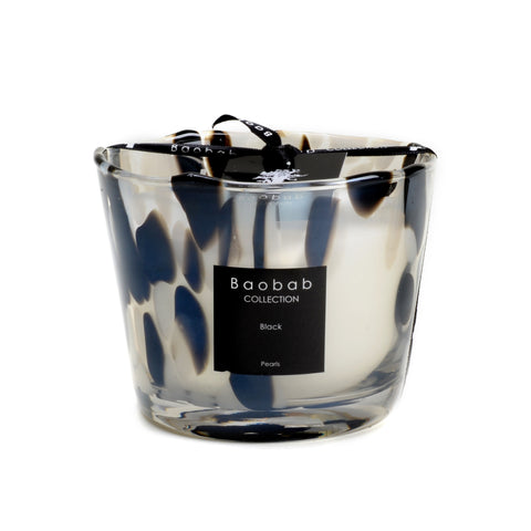 Small Baobab candle, Pearls collection, black