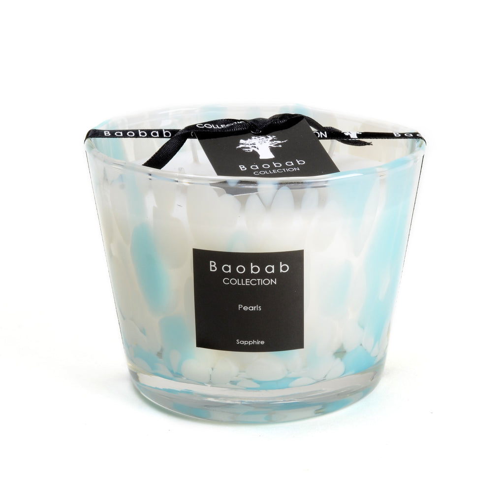 Small Baobab candle, Pearls collection, sapphire
