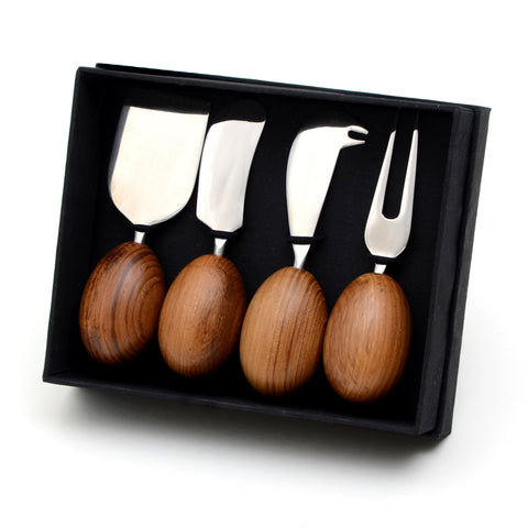 Teak Cheese Knives